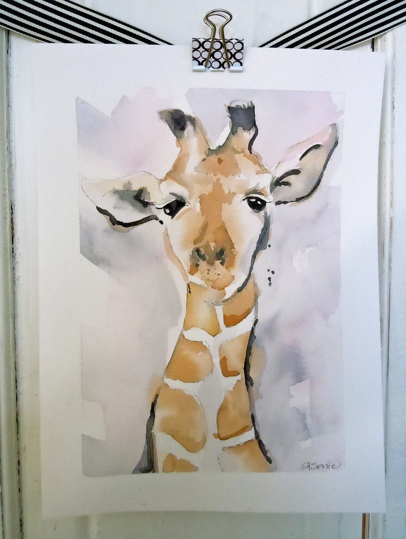 "Giraffe - Fine Art Giclee Print - 11x14, "" It's the Little Things in Life"""
