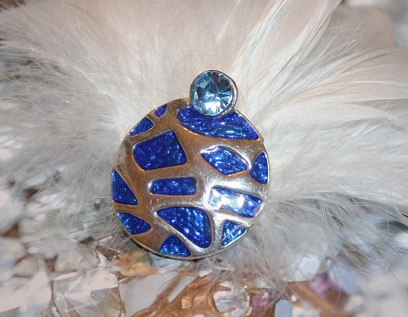 Something Blue Bridal Feather Hair Clip Fascinator-FREE Shipping