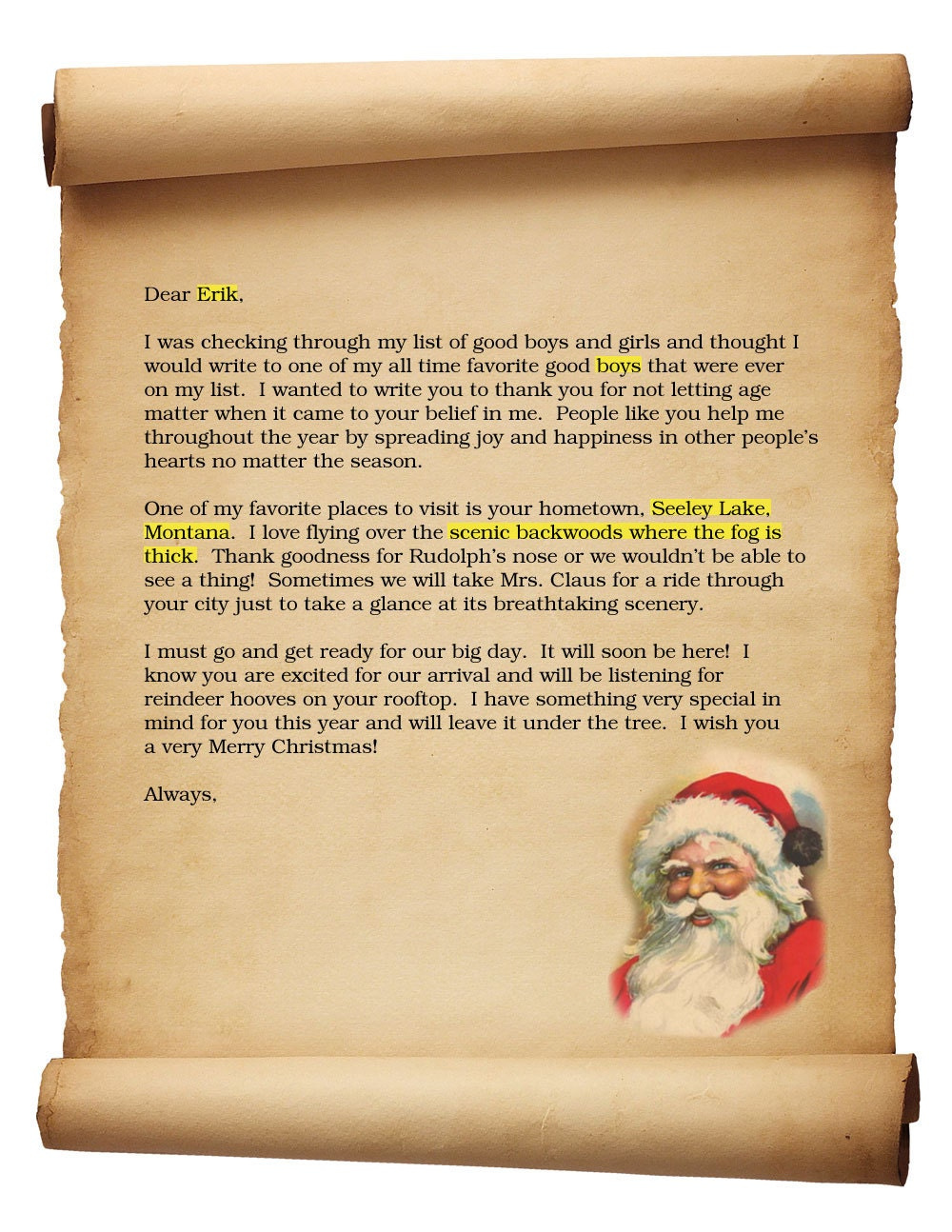 Unavailable listing on etsy for Naughty letter from santa for adults