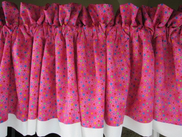 curtain valance hot pink curtain valance 84 wide by thecottageway