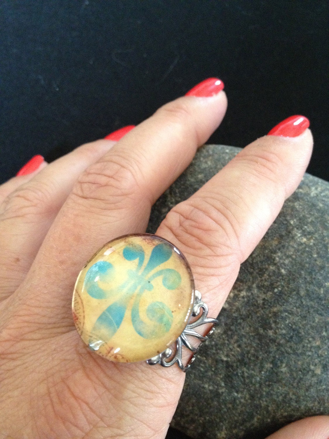 Vintage Style Starburst Filigree Ring