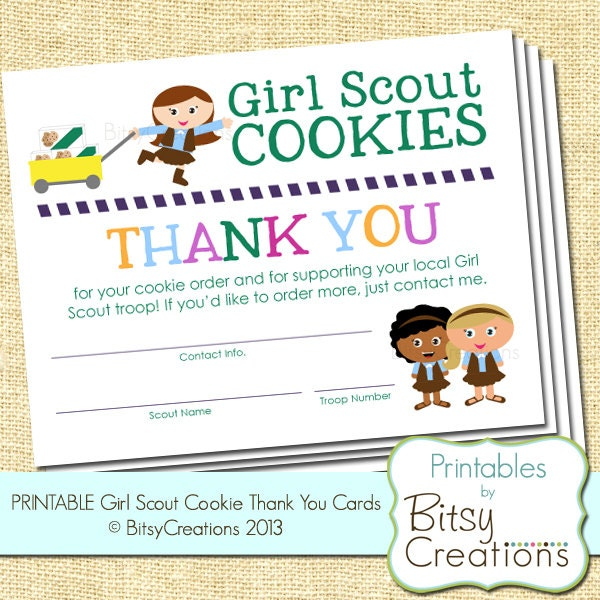 Shocking image inside girl scout cookie thank you notes printable