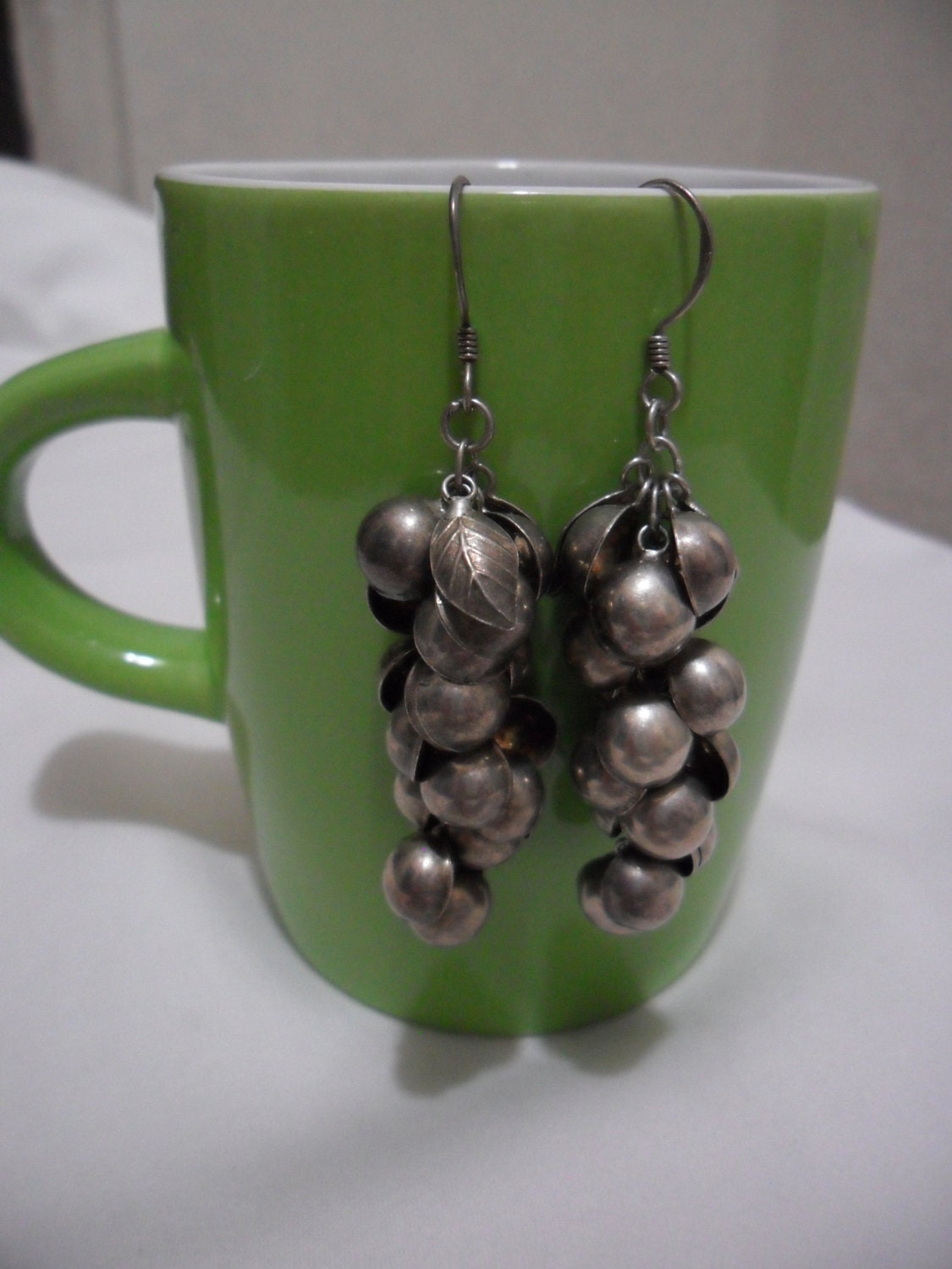 Vintage 925 Silver Stamping Earrings, Gift For Her For Mom, ThriftClub - ThriftClub