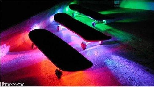 Skateboard Battery Powered LED Wate rproof Light Strip Kit w/ Remote