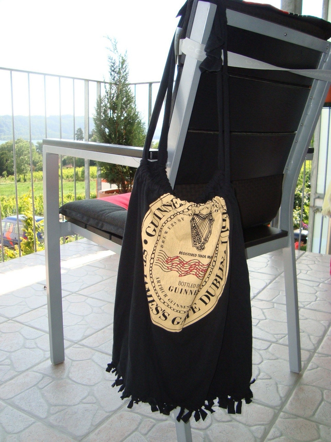 Recycled Tshirt Tote Bag Guinness