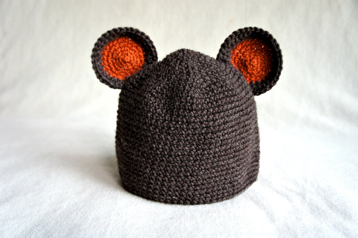 Baby bear hat crochet animal hatBaby Hat with Ears Crochet Beanie Hat with Ears