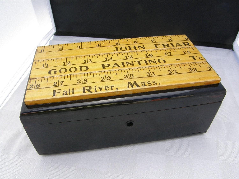 Desk Organizer, Box, Wood, Vintage, Upcycled, Restored, by MalcolmStudioShop on Etsy