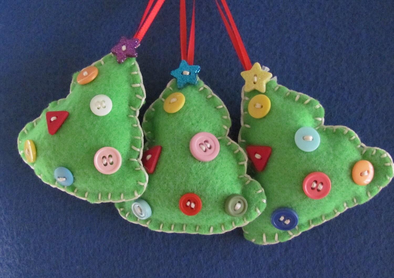 Малый Праздничный Войлок рождественские елки X 3
