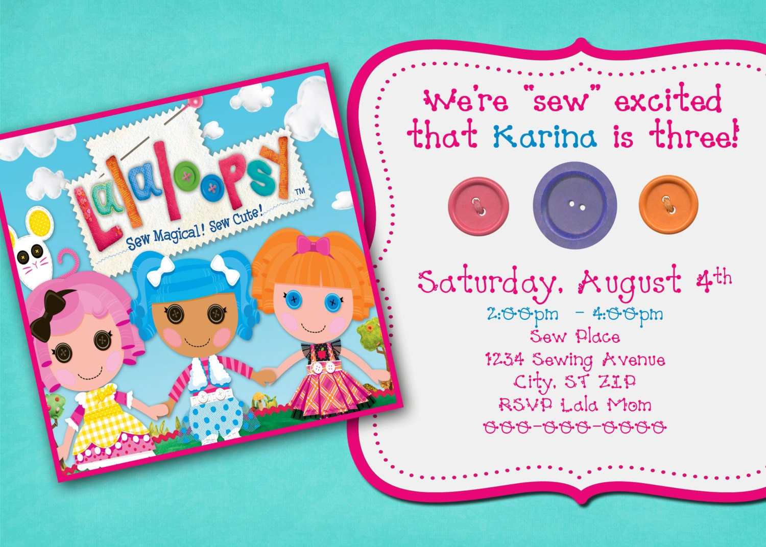 Lalaloopsy Invitations Templates