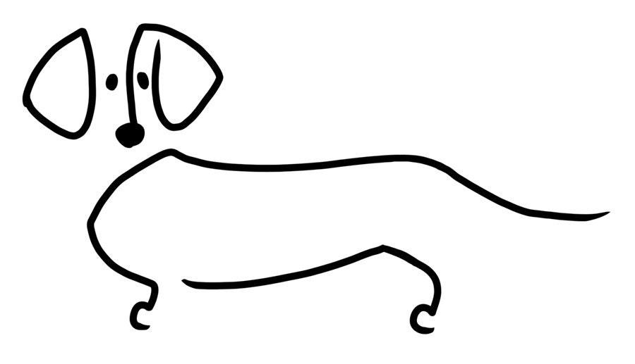 Line Drawing Dachshund : Dachshund decal by supatoon on etsy
