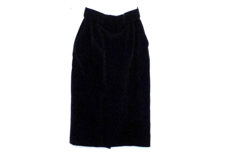 items similar to black velvet pencil skirt with slit by