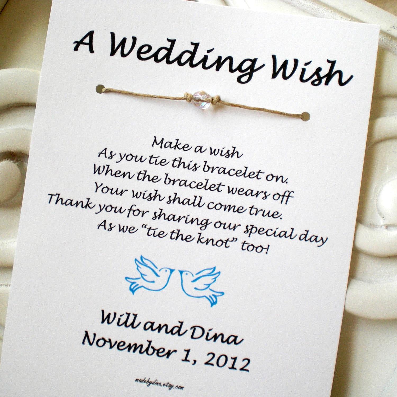 Love Birds A Wedding Wish With Doves Wish Bracelet By Madebydina