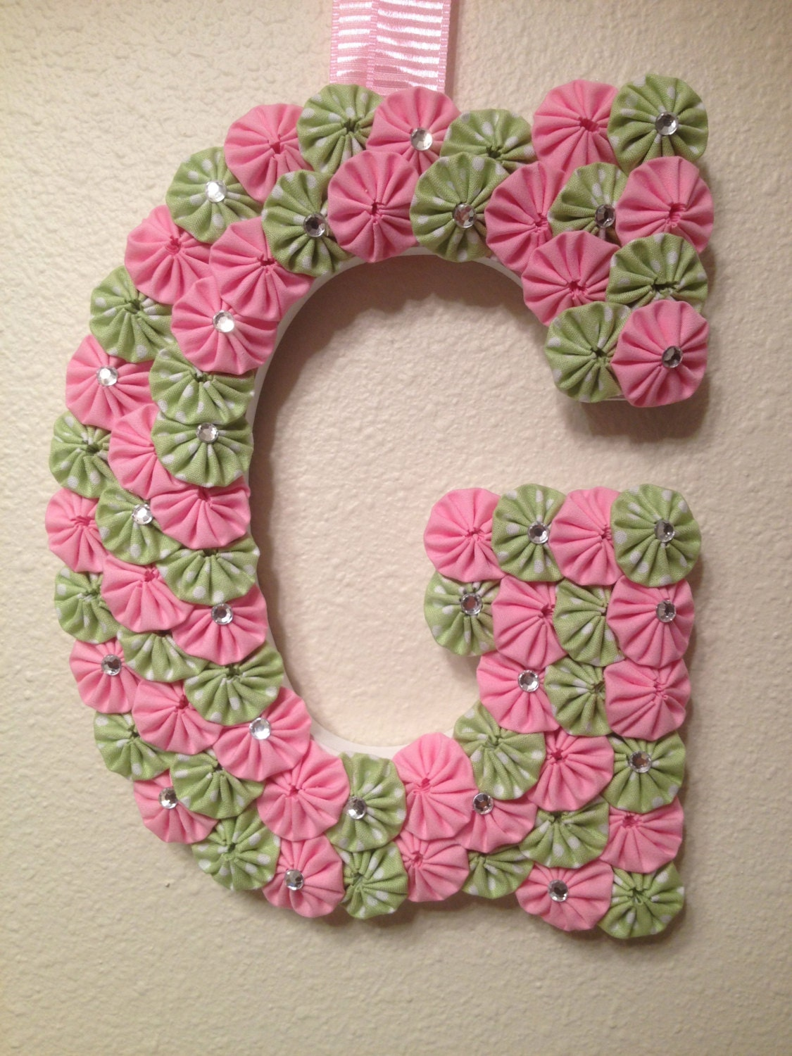 Custom wood letters baby showerbaby name by for Fabric covered letters