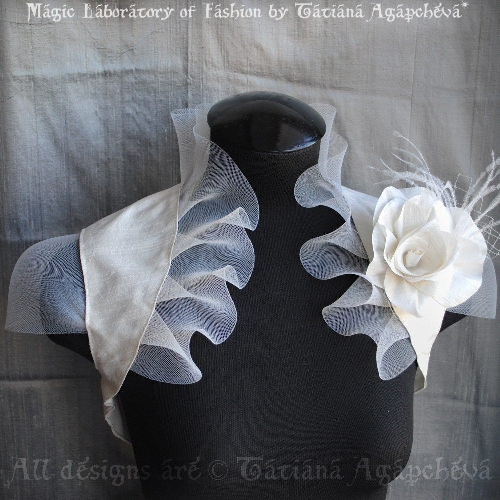 Eternal Sunshine Bolero Shrug New Handmade Wedding by TianaCHE from etsy.com