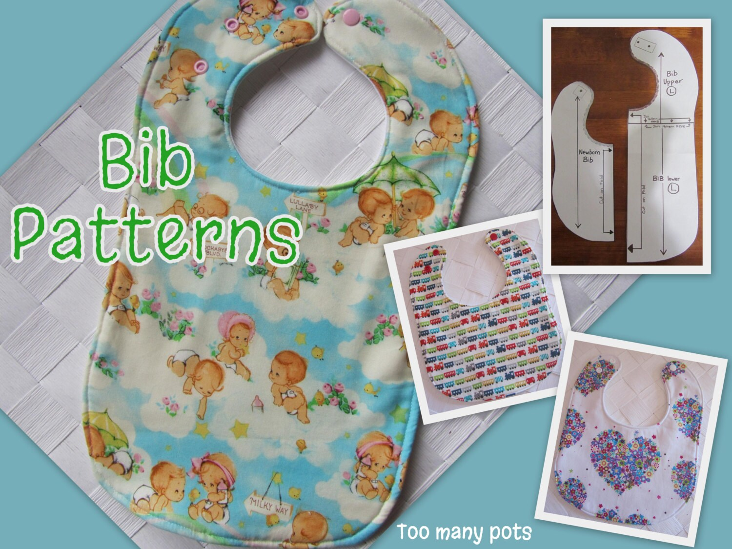 Effortless image with baby bib patterns printable