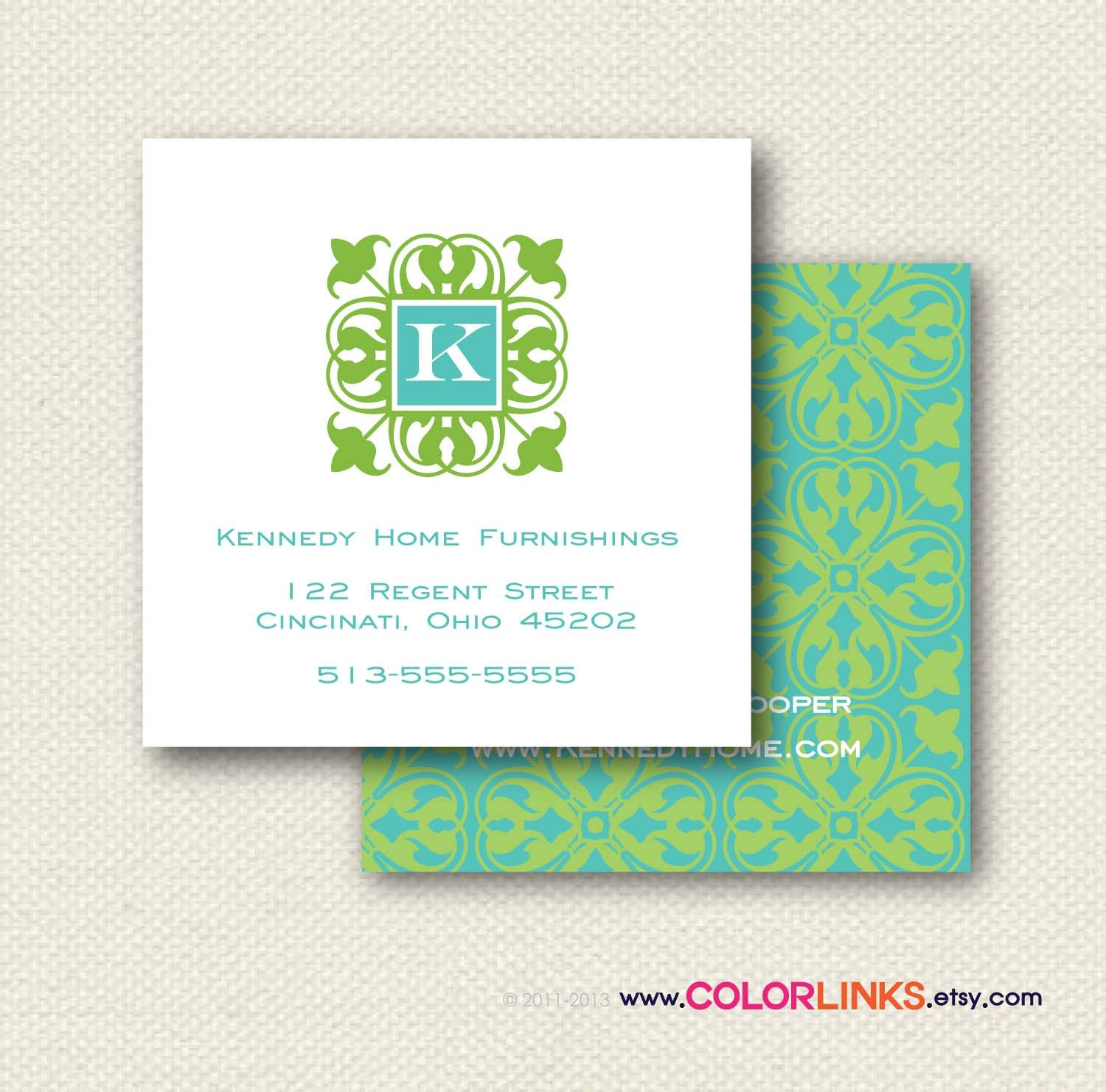 Items similar to Preppy Business Cards Calling Cards