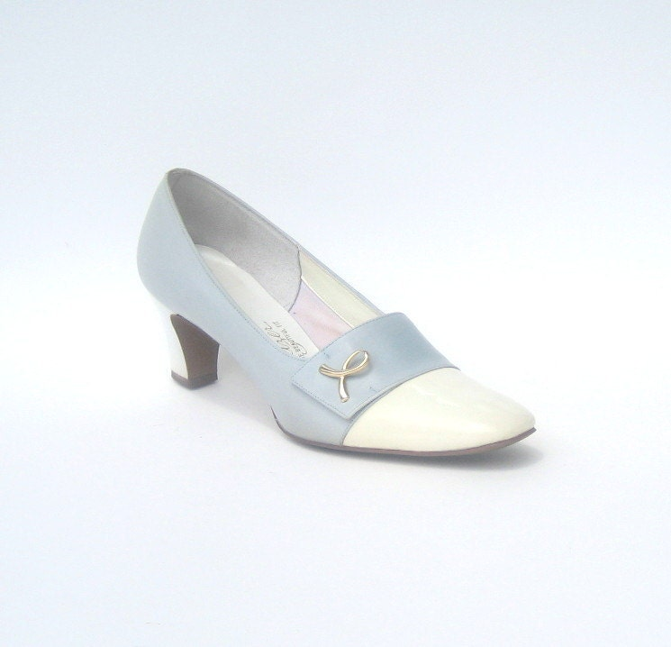 size 6.5 AA / 1960s vintage colorblock shoes - SplendoreBoutique