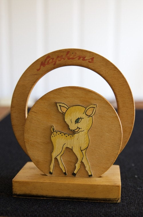 Bambi napkin holder by thebirdandthebutcher on Etsy