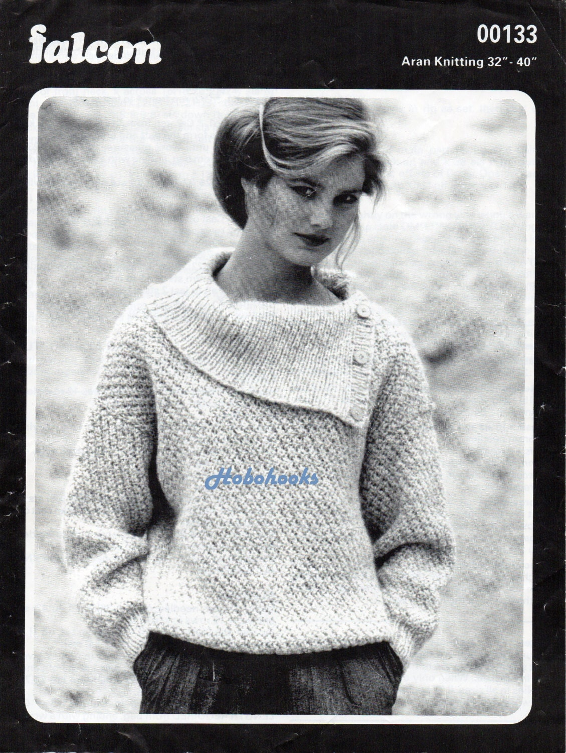 womens knitting pattern womens aran sweater pattern ladies aran jumper button collar  3240 inch aran knitting pattern pdf instant download