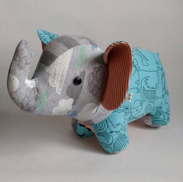 Memory keepsake teddy bear memory elephant stuffed keepsake made from baby clothes in elephant design nursery decor baby shower gift