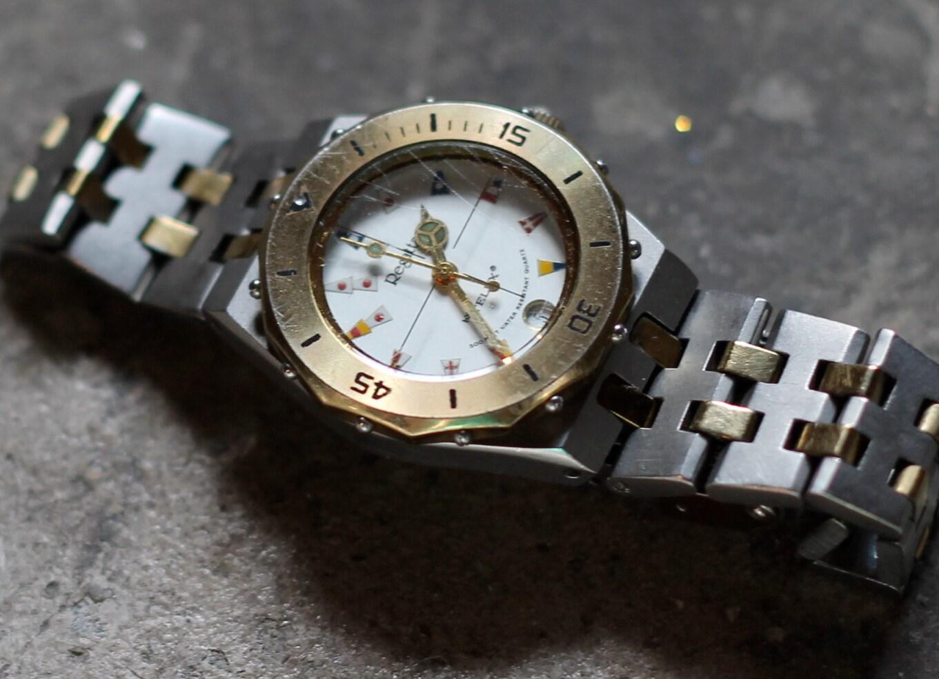 vintage telux regatta gold silver by herbyscloset