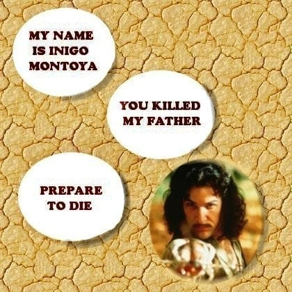 Inconceivable - 4 Large Glass Princess Bride Magnets