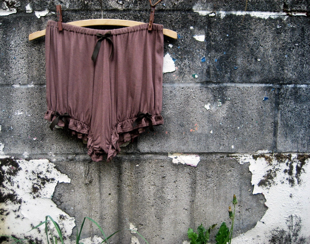 Fable Inspired Russet Brown Bloomettes Bloomers Undergarments Knickers size Small - undertheroot