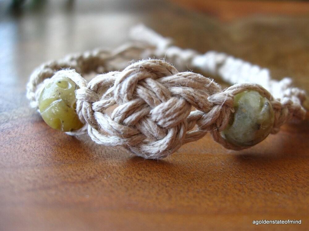 Celtic Knot Soapstone Twist hemp bracelet