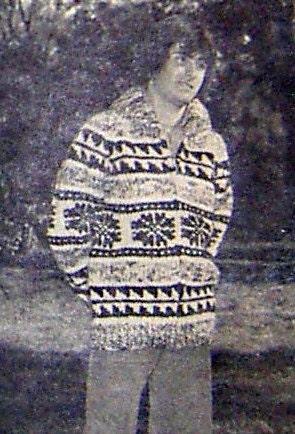Newton's knitting: snowflake hat pattern