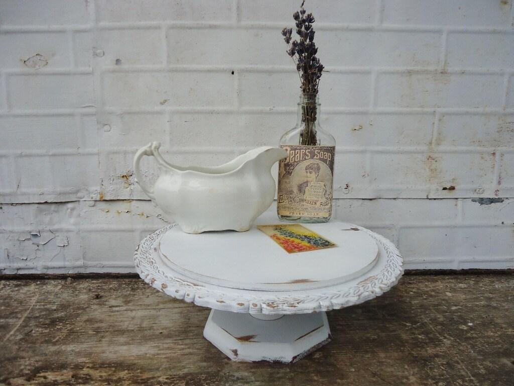 Vintage White Pedestal Wedding Cake Stand