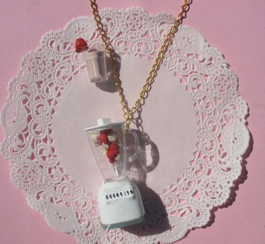 Strawberry Banana Smoothie Necklace