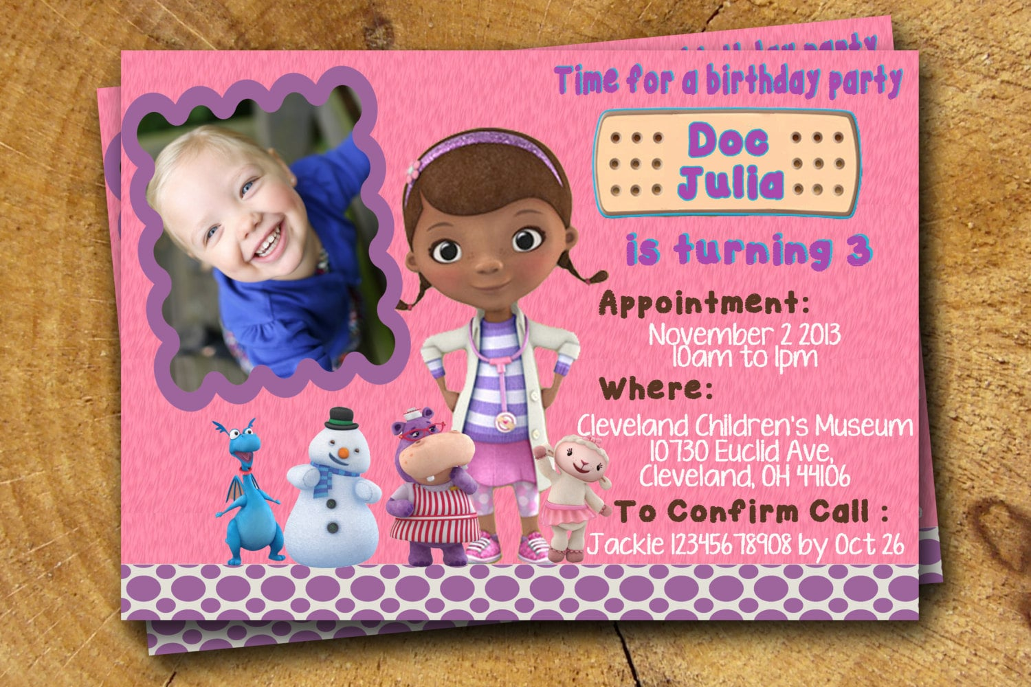 DOC MCSTUFFINS printable invitations diy by TheLudwigShop ...