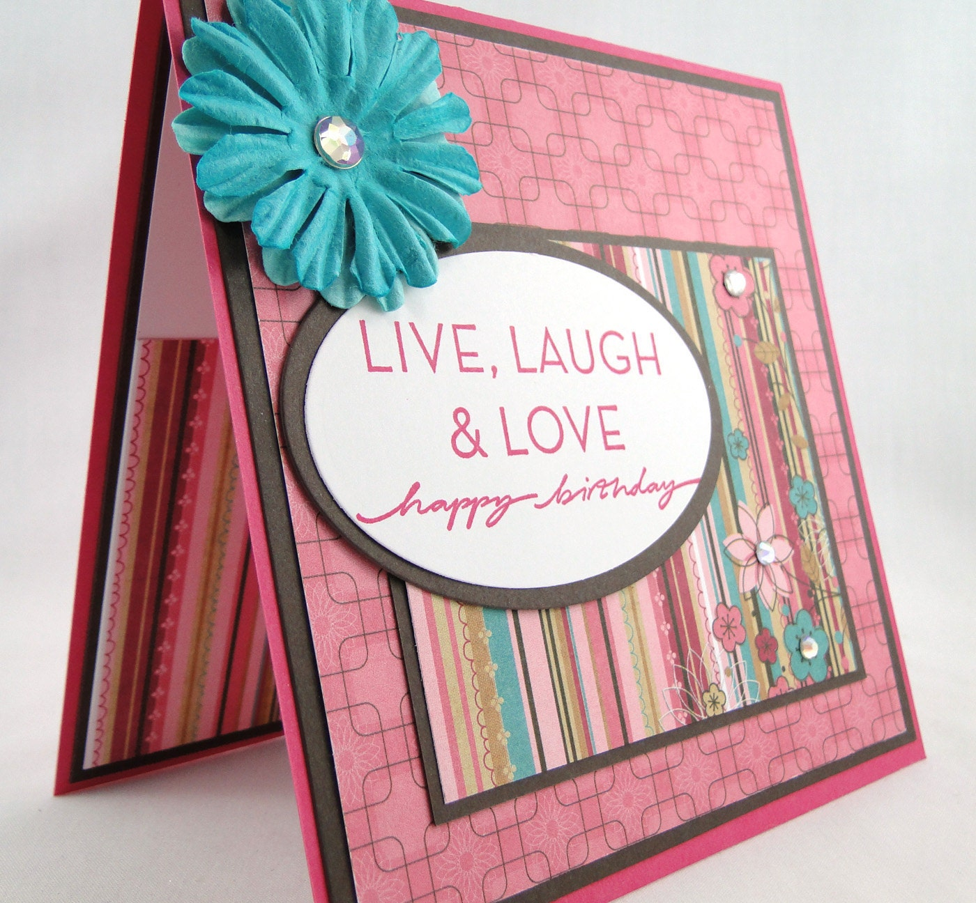 Live Love and Laugh Happy Birthday Greeting Card