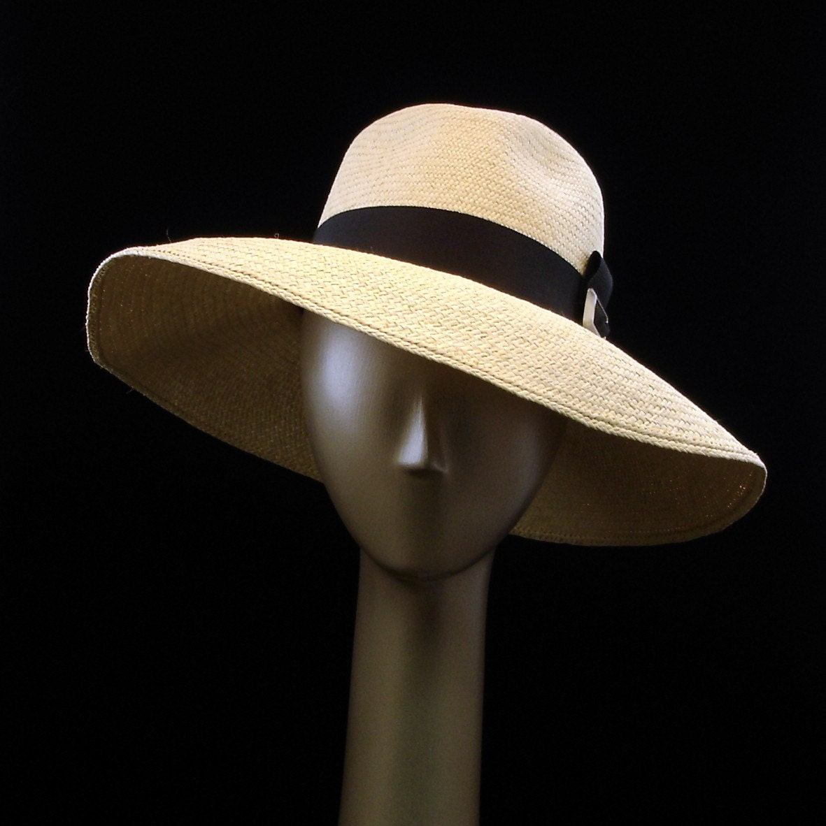 SUN HAT Wide Brim Hat  for Women  Natural Straw Hat