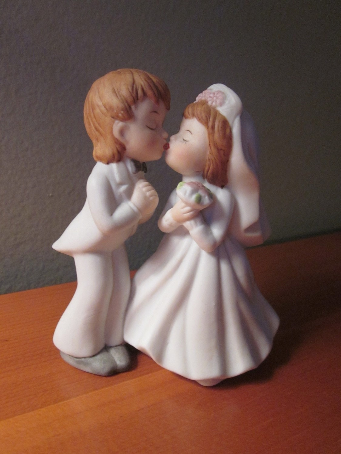 Vintage Lefton Bride and Groom Wedding Topper