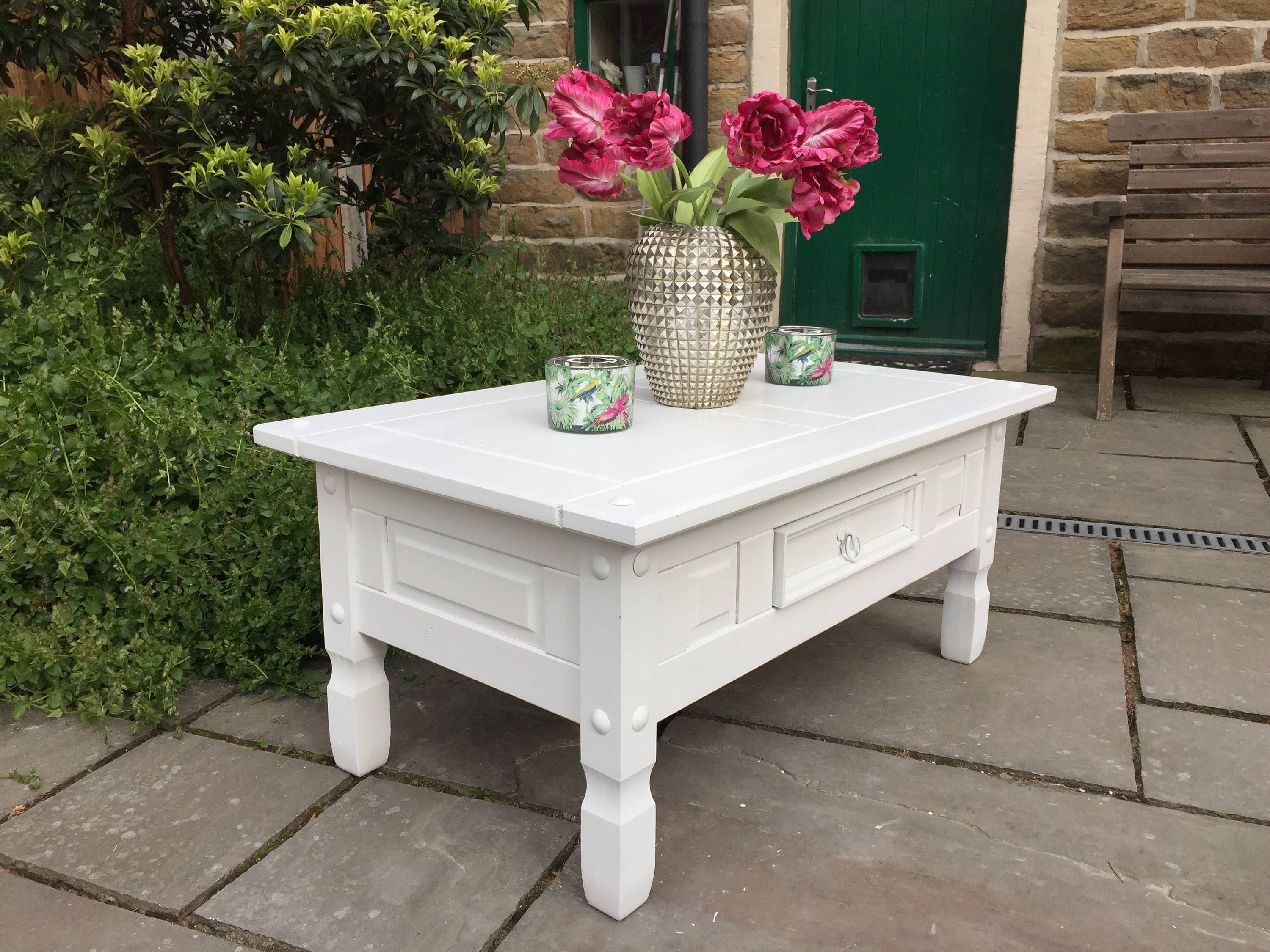 TV Stand Cabinet Unit  Coffee Table  White