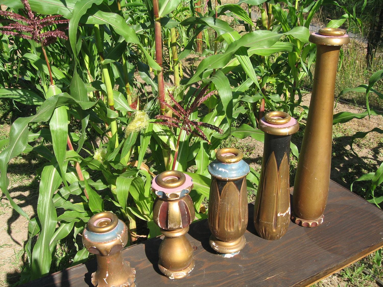 Vintage Art Deco Handmade Candlesticks Candle ...
