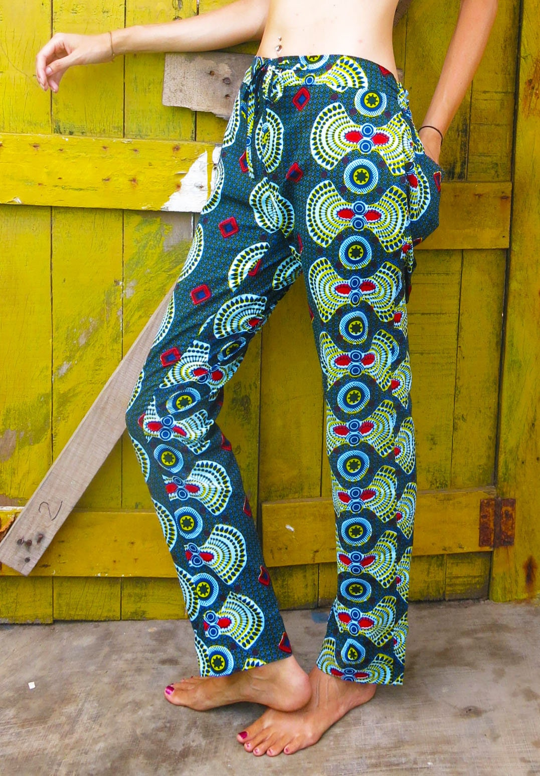 Paa Pa Bi Original Pants  African print pants  Unisex pants  Festival trousers  African two piece  Lounge pants Ethical clothing
