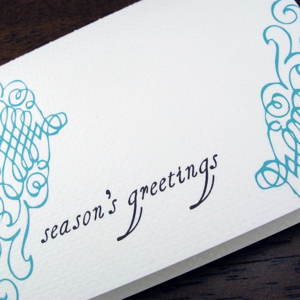 Season's Greetings -- Simple and Elegant Holiday Cards -- Boxed Set of 8