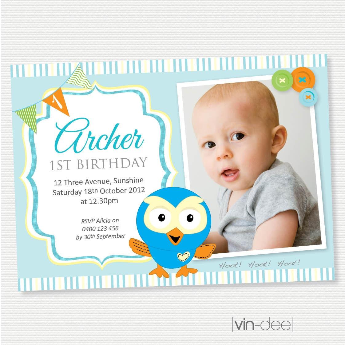 Airplane Birthday Invitation Diy Printable By Vindee On Etsy: Hoot The Owl Birthday Invitation With Photo DIY By Vindee