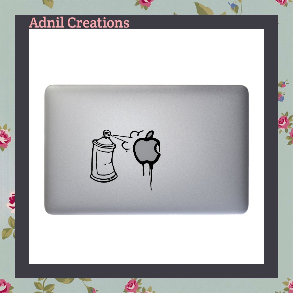Spray paint graffiti Macbook Decal Apple Macbook and other laptop stickers iPad decal iPad Stickers