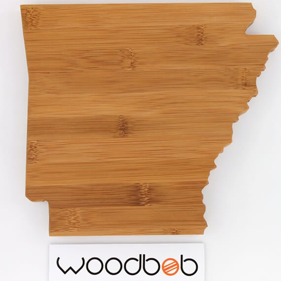 14 Quot Arkansas Bamboo State Shaped Cutting Board By Woodbob Com