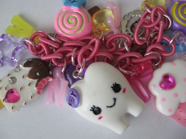 Kawaii Candy Sweet Tooth Charm Bracelet