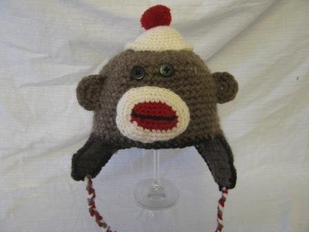 Sock Monkey Infant Sized Hat