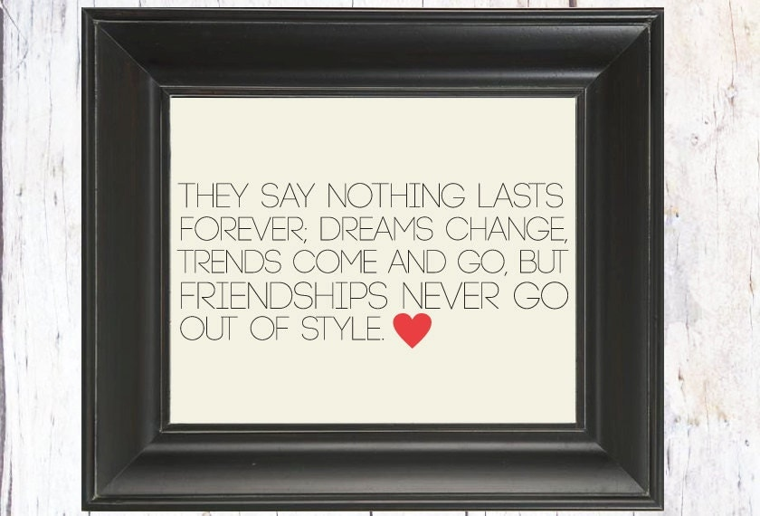 Sex and The City Quote: Art Print // Best Friend Gift //Unique Friend Gift