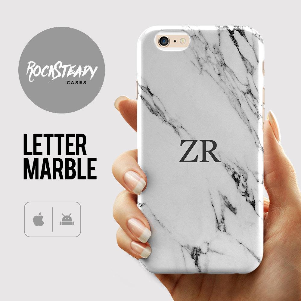 Custom Monogram Phone case Marble iPhone 7 Plus case iPhone 6s 6 Plus SE 5C 5S case personalized Samsung Galaxy S6 S7 S5