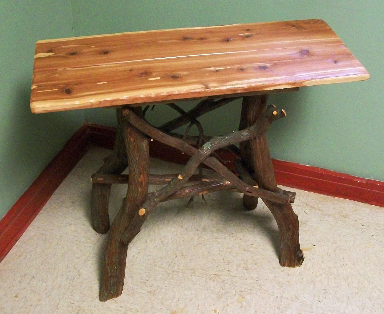 Rustic Handmade Red Cedar And Laurel End Side By