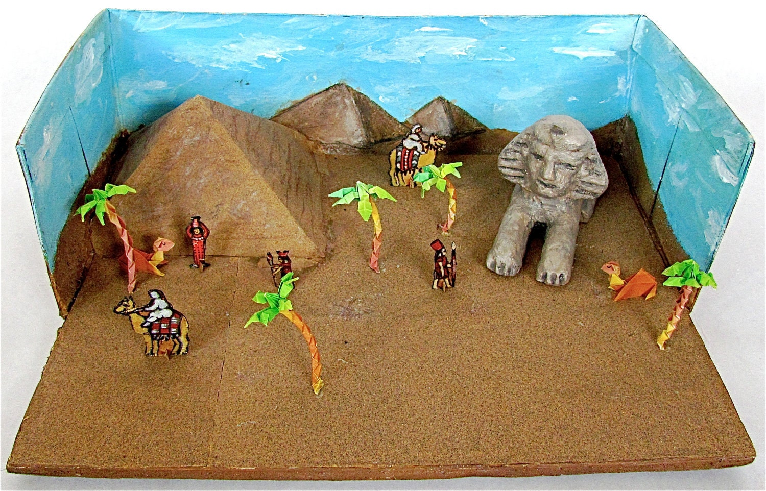 Ancient Egypt Shoebox Diorama Child 39 s Naive Art by lion2833