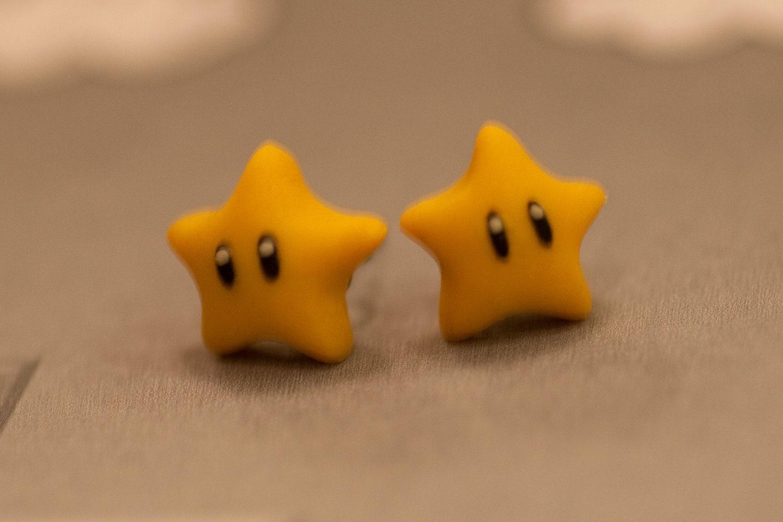 Nintendo Mario Star Earrings