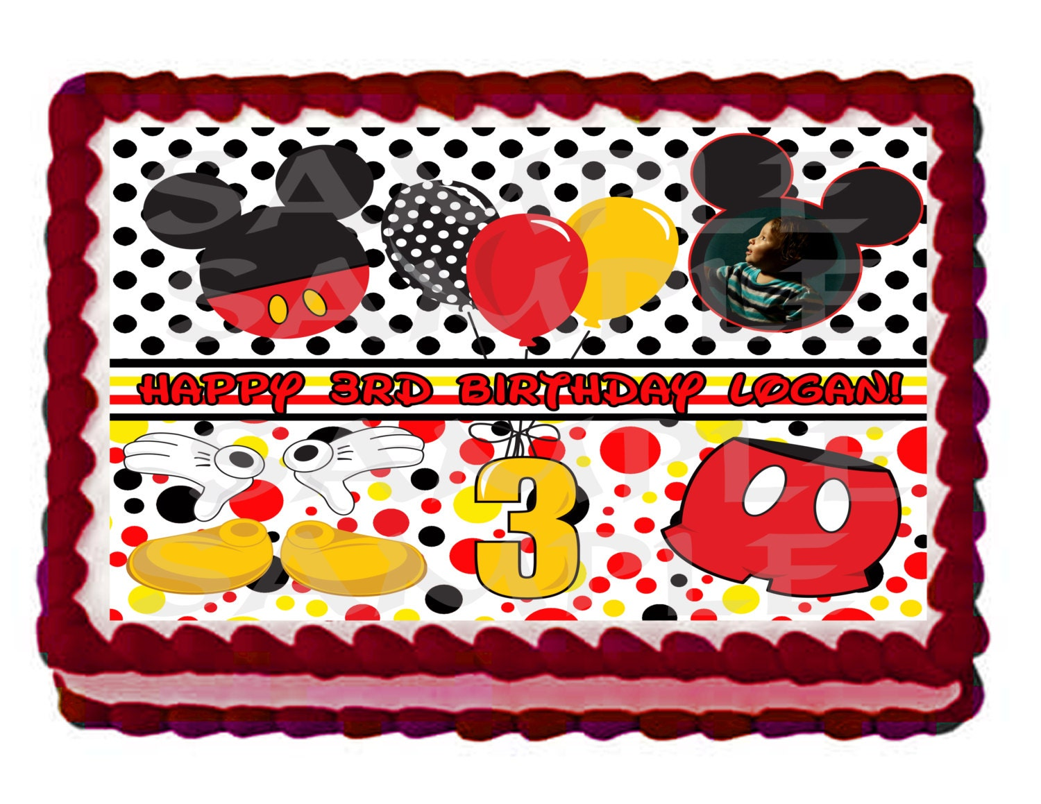 Mickey Mouse 14 Sheet Cake Mickey Mouse Inspired ...